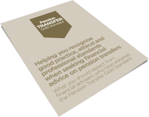 Pension Transfer Gold Statndard Helping you recognise good practice ethical and professional standards when seeking financial advice on pension transfers